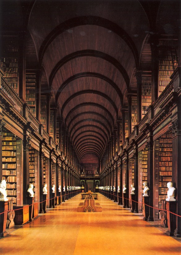 The Long Room at Trinity Library, Cambridge UK.