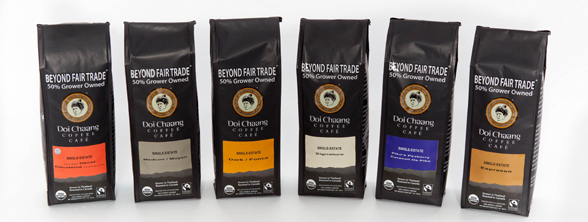 Doi-Chaang-Single-Estate-roasts-(l-r)-Decaf,-Medium,-Dark,-Signature,-Peaberry-&-Espresso