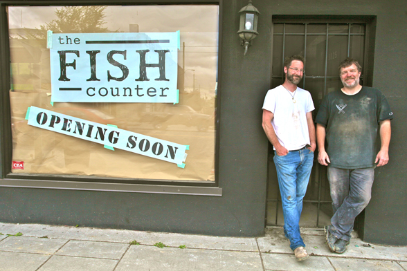 Mike McDermid and Rob Clark are opening The Fish Counter at 3825 Main Street this winter