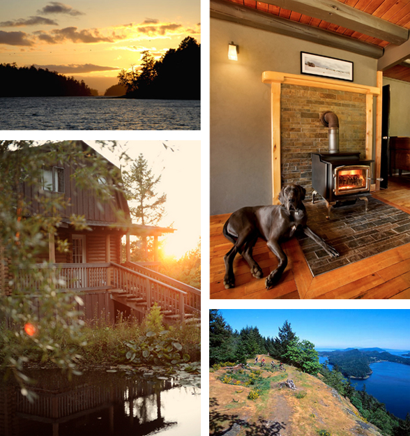 Bodega Ridge is located at 120 Manastee Rd. on beautiful Galiano Island, BC | 1-877-604-2677 | BodegaRidge.com