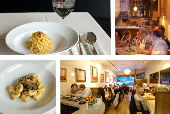 The intimate La Quercia is located at 3689 West 4th Ave on Vancouver's West Side | 604-676-1007 | www.laquercia.ca