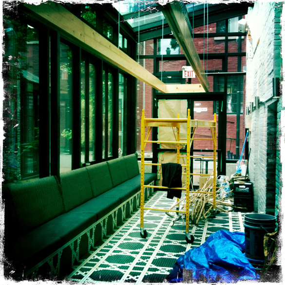 The back atrium...